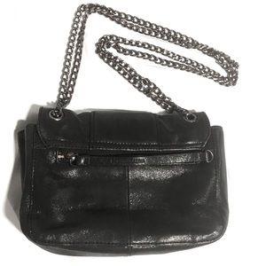 BCBGMaxAzria Bags - BCBG MaxAzaria black matte leather glitter purse